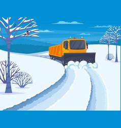 snow transport vector image