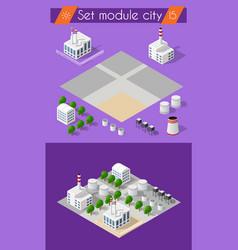 building 3d industry vector image