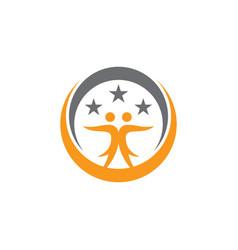 circle human star education business logo vector image