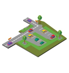 parking area vector image