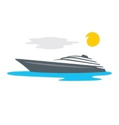 Yacht Cartoon vector image