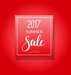 2017 summer sale banner vector