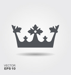 a crown in flat design style vector image