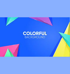 abstract background with colorful triangle vector image