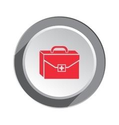 Ambulance icon Instrument bag Medical symbol of vector image