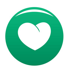 Angelic heart icon green vector