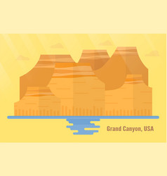 arizona in usa landmarks for travelling with vector image