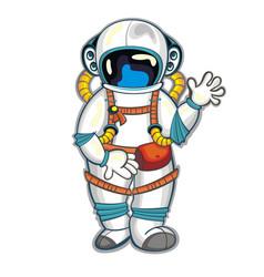 astronaut spaceman vector image