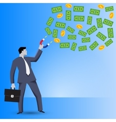 Attracting investments business concept vector