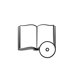 audiobook hand drawn sketch icon vector image