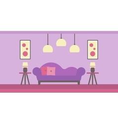 Background of modern living room vector