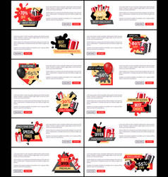 Best price special promotion web pages text set vector