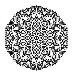 Black Mandala for Coloring vector