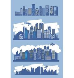 blue city vector image vector image