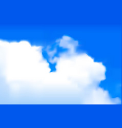 Blurred clouds vector