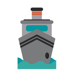 boat flat vector image