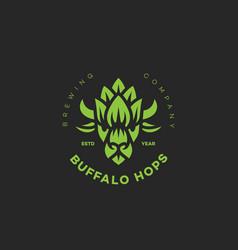 Buffalo hops logo vector