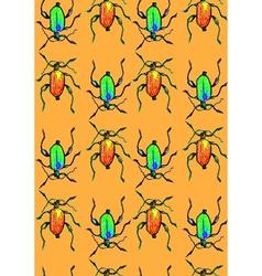 Bug orange pattern vector image