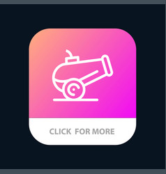Canon weapon mobile app button android and ios vector