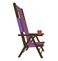 chair recliner icon beach summer lounge design vector image vector image