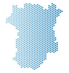 Chechnya map hexagon abstraction vector