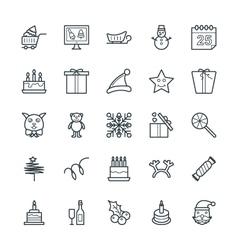Christmas Cool Icons 4 vector image