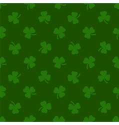 Clover leaves background St Patrick day vector image