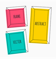 colorful set of cartoon style frames vector image
