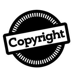 Copyright stamp on white vector