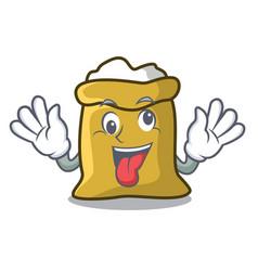 Crazy flour mascot cartoon style vector