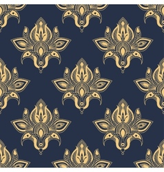 Dainty damask seamless floral pattern vector