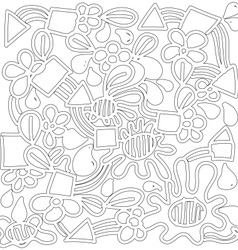 Doodle abstract background plant concept vector