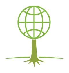 Earth tree symbol vector