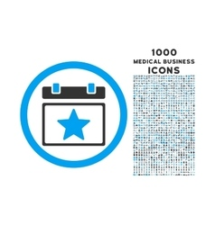 Favourites Day Rounded Icon with 1000 Bonus Icons vector
