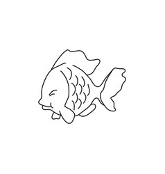 fish line image vector image