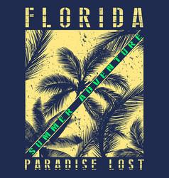 florida summer tee graphic design vector image