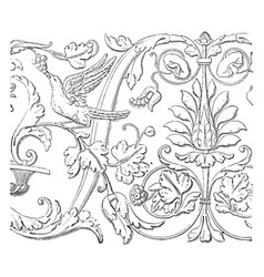 Friezes at venice the ionic or corinthian order vector