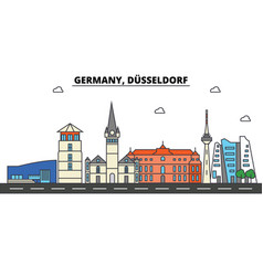 Germany dusseldorf city skyline architecture vector