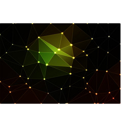 green brown yellow black geometric background vector image vector image