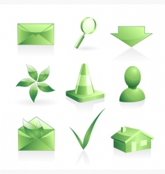 Green symbols set vector