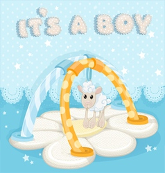 Greeting card with a childrens rug is a boy vector image