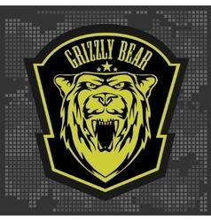 Grizzly bear head - emblem vector