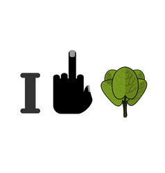 i hate spinach and green leaf lettuce fresh vector image