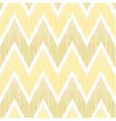 ikat chevron seamless pattern tribal background vector image
