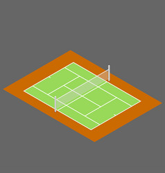 isometric of tennis court flat vector image