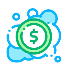 Laundered cash money icon outline vector