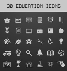 Light education icon set vector image