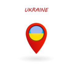 location icon for ukraine flag eps file vector image