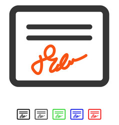 mail attachment flat icon vector image
