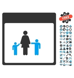 Mother Calendar Page Icon With Bonus vector